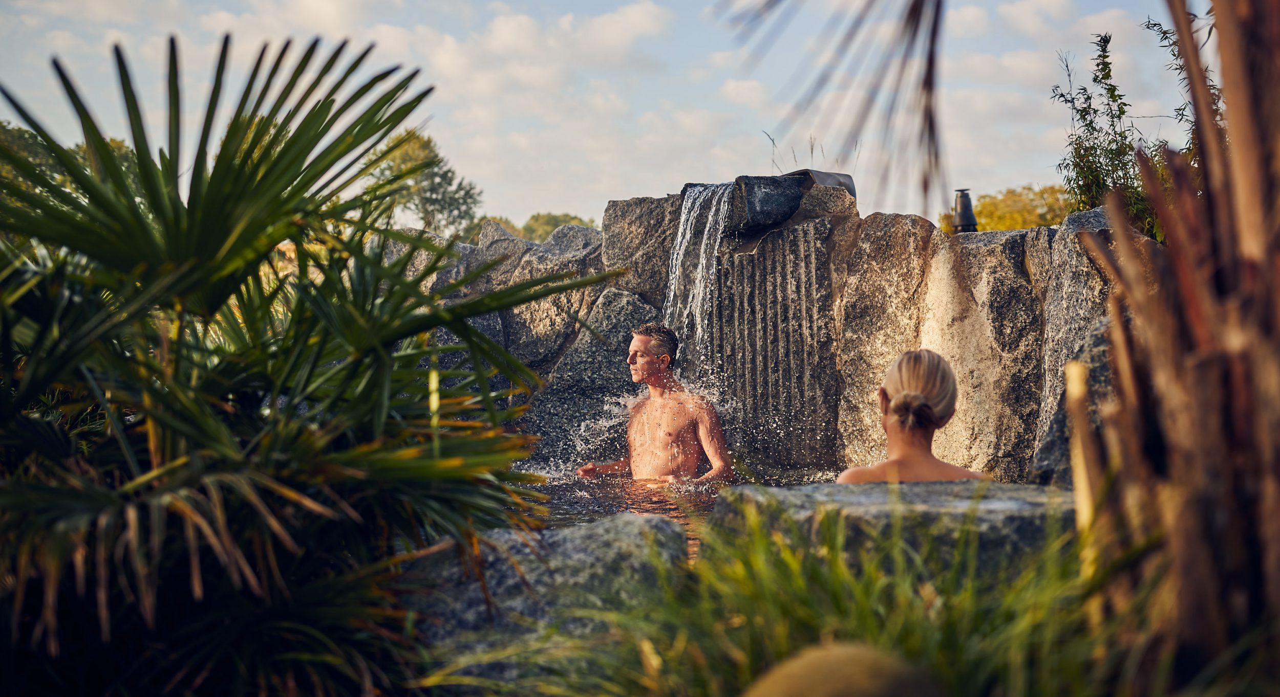 De warm waterbron op het eiland klein Bali in de sauna, spa & wellness van Fort Resort Beemster.